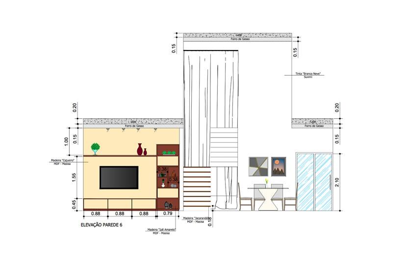 detalhamento dos móveis
